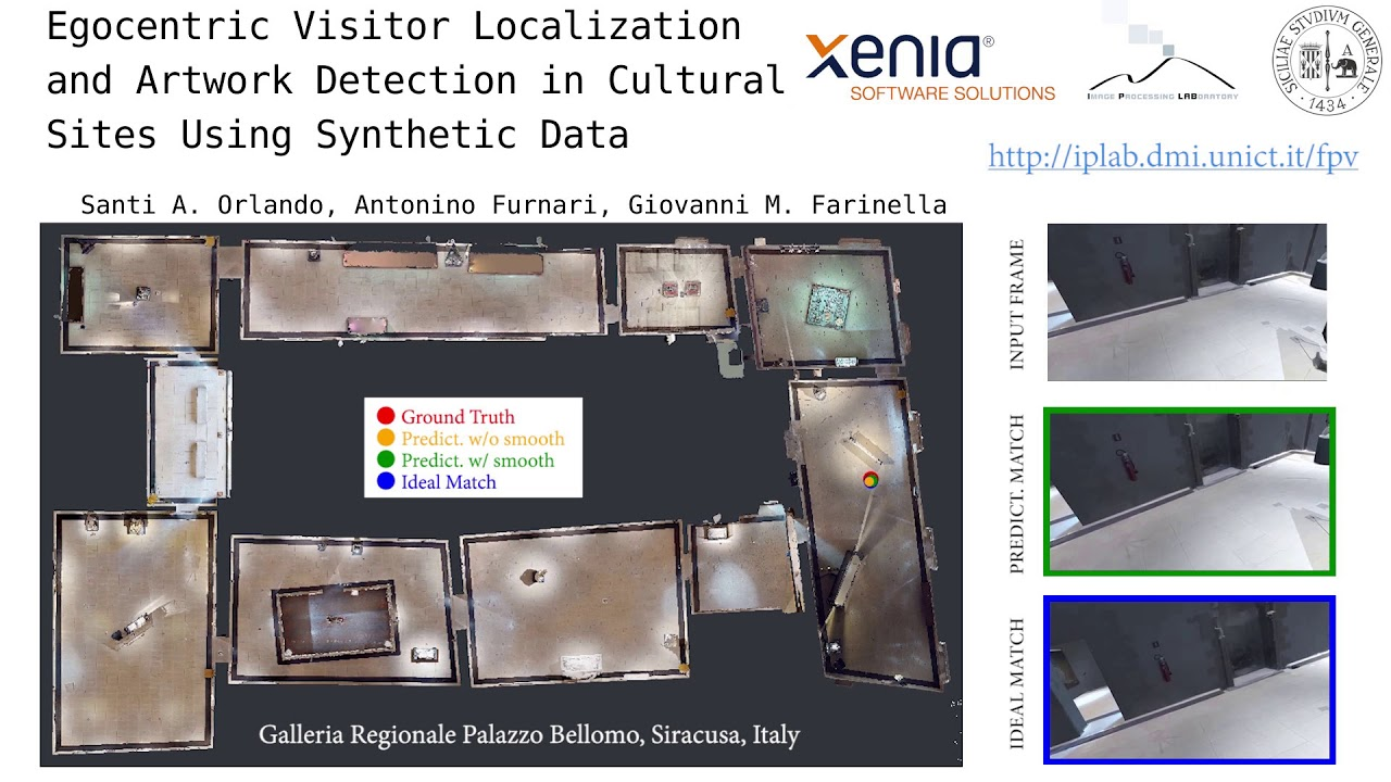 Egocentric Visitor Localization and Artwork Detection in