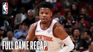 KNICKS vs BULLS | Dennis Smith Jr. Drops 25 Points In Chicago | April 9, 2019 Video