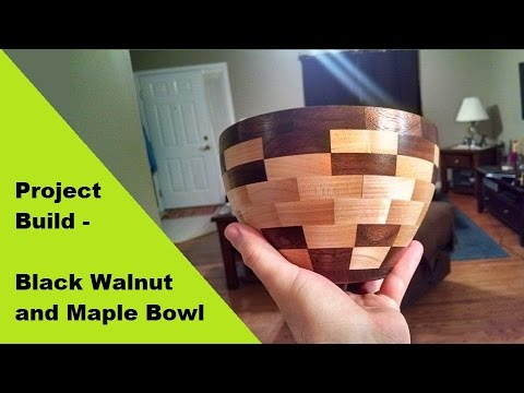 Project Build - Black Walnut and Maple Segmented Bowl