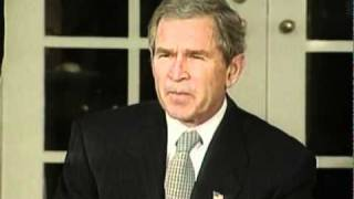 George W. Bush speaking on the war in Afghanistan.