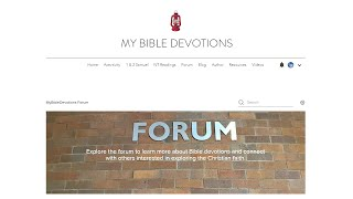 Using the Forum at MyBibleDevotions.com