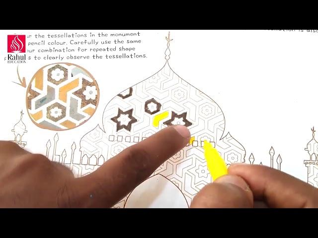 Digital Art & Craft Classes for Learners  Grade- III Activity- 11   Tessellations in Taj Mahal