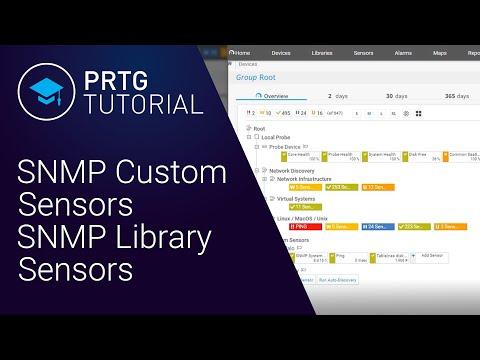 PRTG Tutorial: SNMP Custom Sensors And SNMP Library Sensors