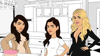 ''Keeping Up With the Kardashians'' - App Cartoon | Treffen der Familie | EP.1