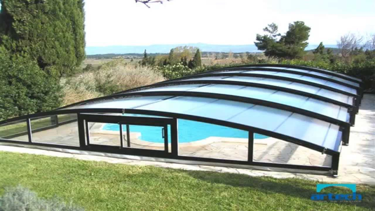 Abri piscine bas artech mineo youtube for Abri piscine kardinal