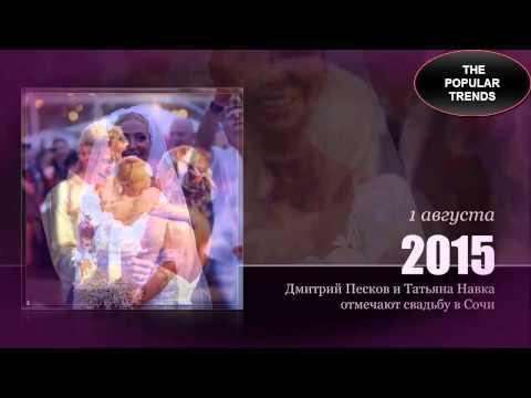 НАВКА и ПЕСКОВ - свадьба в Сочи. ПЕРВЫЕ ФОТО со свадьбы Дмитрия ПЕСКОВА и Татьяны НАВКИ