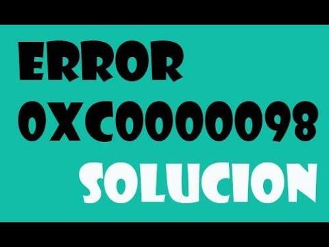 Error 0xc0000098 en Windows 7 I SOLUCIÓN 2017 de YouTube · Duración:  4 minutos 15 segundos
