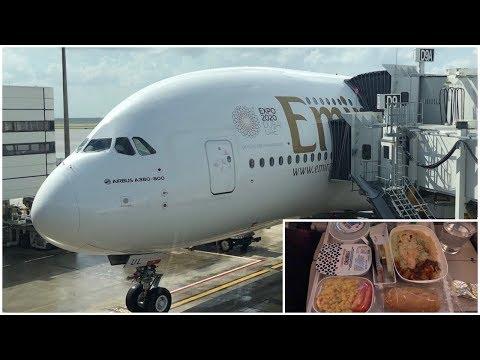 Emirates 14 hour flight!! Houston to Dubai   Airbus A380-800