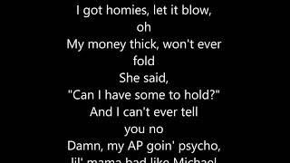 Post Malone - Psycho CLEAN LYRICS ft.Ty Dolla $ign