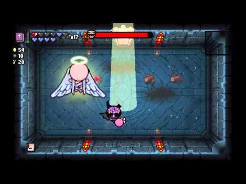 The Binding Of Isaac Rebirth Angel Boss Battle Youtube