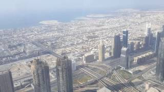 At the Top- Burj Khalifa in Dubai 124th floor