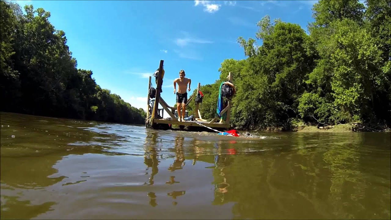 Home Made Hammock Raft On The Cape Fear Youtube