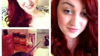 how to dye dark hair red without bleach sparklingbeauty17