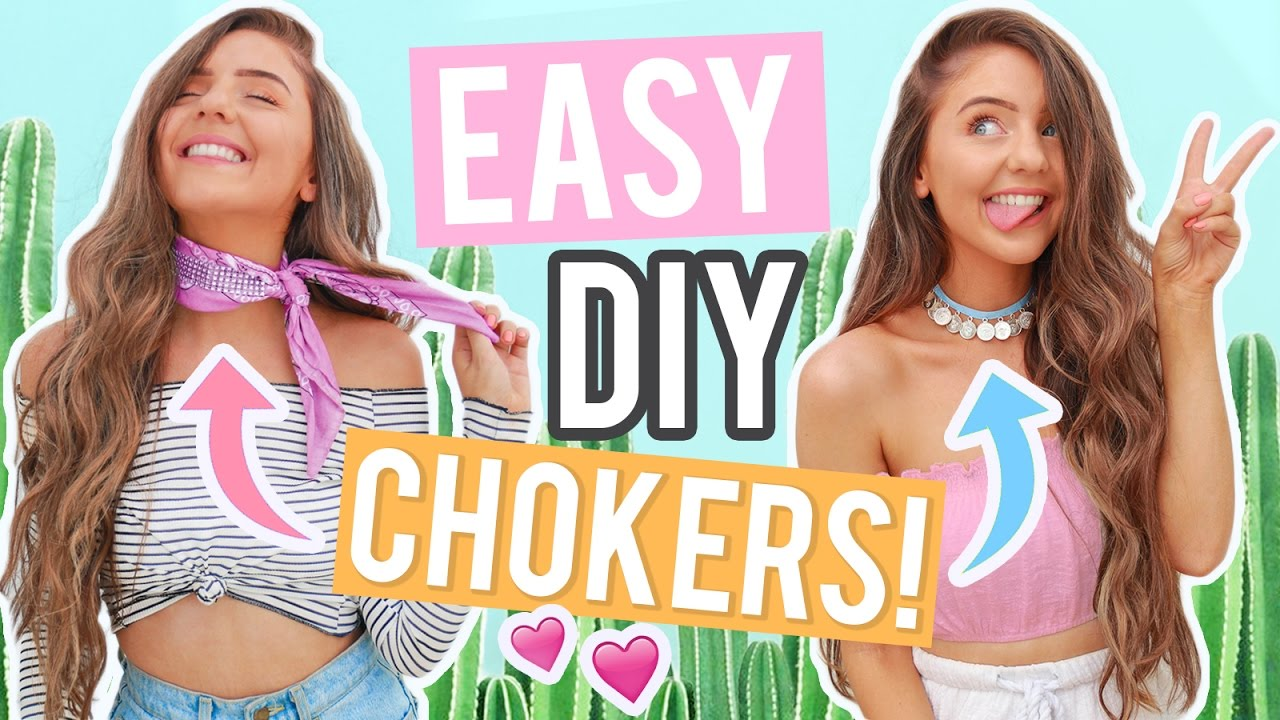 EASY DIY CHOKERS 2017! Cheap DIY Jewelry + Choker Necklaces You Will ACTUALLY want!