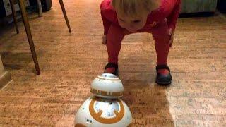Робот BB-8 Зоряні війни - тест драйв в домашніх умовах. BB-8 Star Wars. Unboxing BB8 Disney 0+