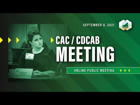 Sept. 8 Kentucky Chemical Demilitarization Citizens' Advisory Commission/CDCAB Meeting (2021)