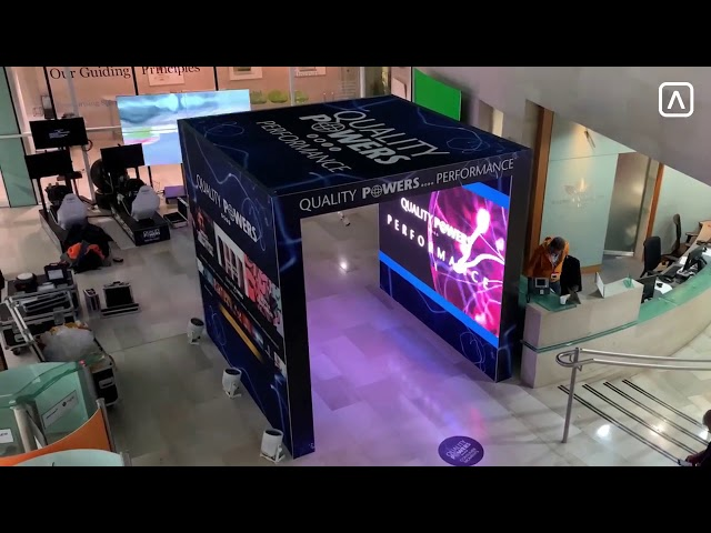 Aluvision LED Tile 55 P2.5 by London Audio Visual - LED Screen Wall Tunnel Hire & Rental Solution