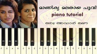 Manikya Malaraya Poovi | Piano Tutorial | Oru Adaar Love