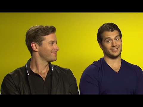 Man from U.N.C.L.E Interview: Henry Cavill and Armie Hammer Are Smackable