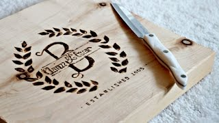 Diy Personalized Cutting Board   How To Burn Wood   Engraving Wood!