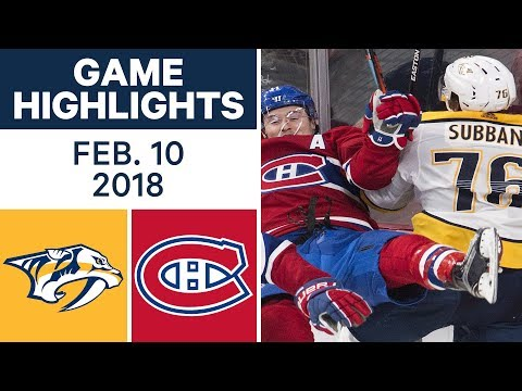 NHL Game Highlights | Predators vs. Canadiens - Feb. 10, 2018