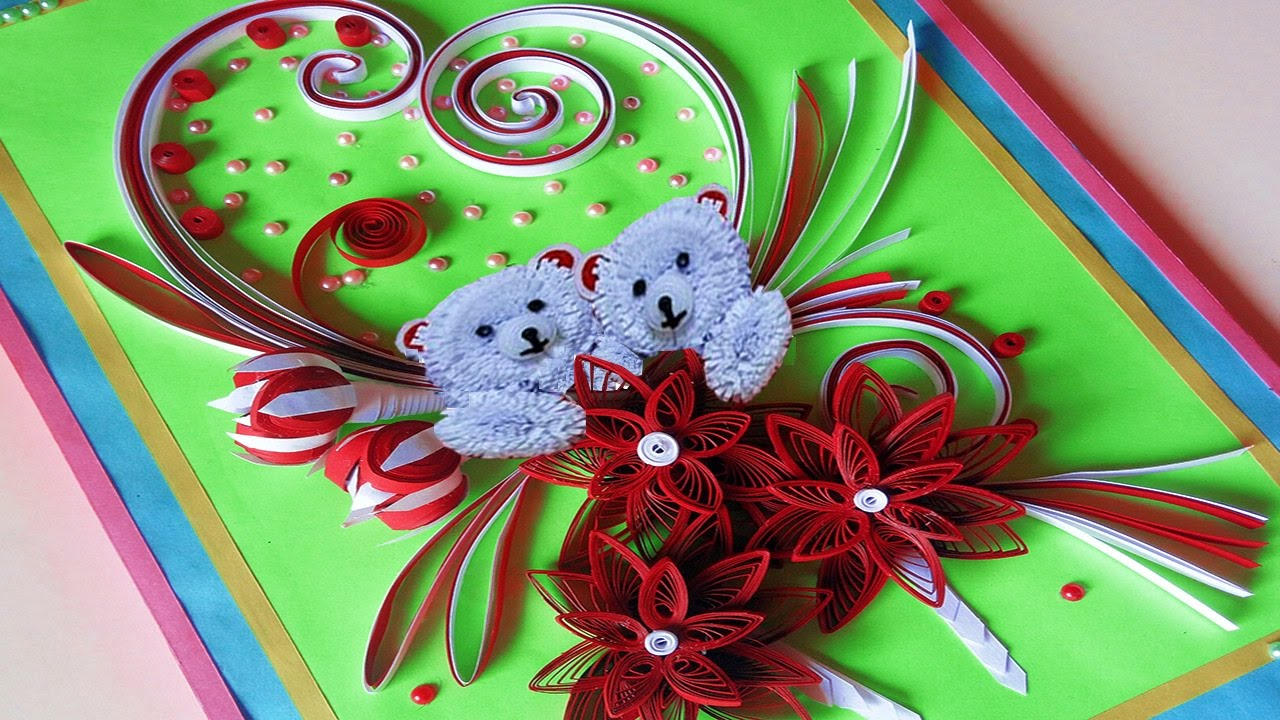 Paper Quilling How To Make Valentines Day Greeting