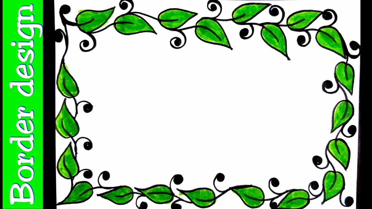 Leaves Borders On Paper Project Work Designs Simple Border Designs For Projects Handmade A4 Sheet Youtube