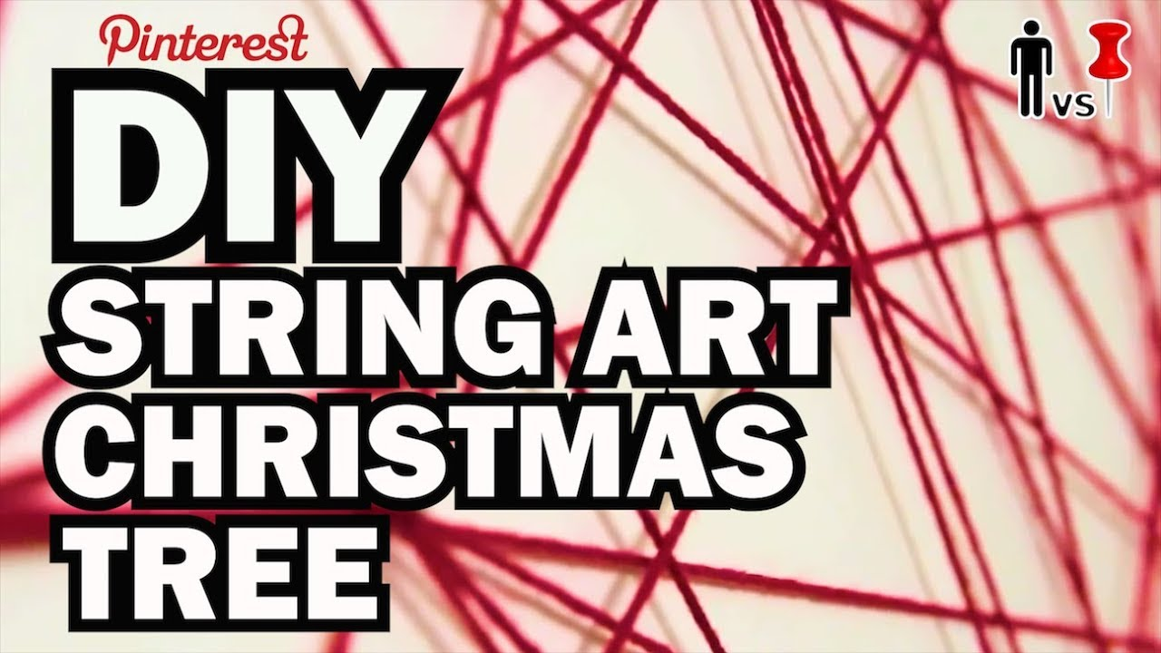 DIY String Art Xmas Tree - Broke for the Holidays - YouTube