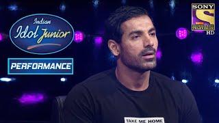 John Abraham Is Stunned At Nahid's Performance On 'Jaadu Hai Nasha' | Indian Idol Junior 2