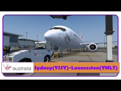 [FSX] Virgin Australia | Sydney-Launcester | PMDG 737-800WL NGX |