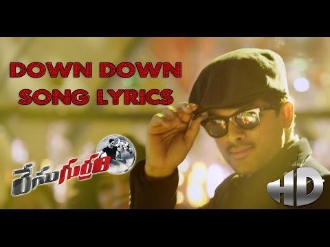 Race Gurram Promotional Full Songs HD | Down Down Song with Lyrics | Allu Arjun