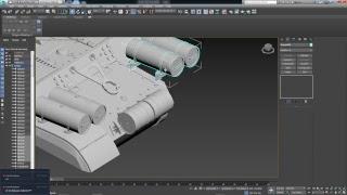 Моделирование танка ИС-4(М) в 3ds max.#11.Топливные бочки и дымовые  шашки.