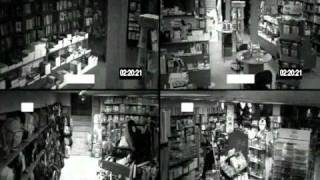 ghost caught on cctv in bookstore greece
