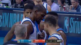f32b241a399 Russell Westbrook and Kevin Durant go FACE TO FACE in heated exchange