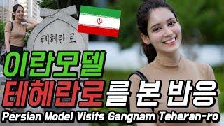 이란모델이 본 강남 테헤란로 이란에 서울로가 있다고 외…