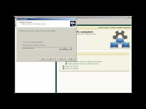 Kaspersky Lab - Remote Deployment of Kaspersky Antivirus MP4 and Network Agent 8.0