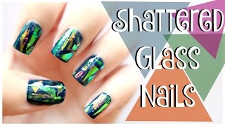 EASY Shattered Glass Nails!!! | MissJenFABULOUS