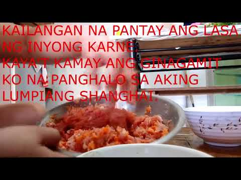 LUMPIANG SHANGHAI  RECIPE(FOR BUSINESS)