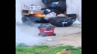 unbelievable! Blowing up a shop vac