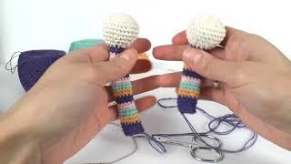 Жираф крючком. Вязаный жираф мастер класс. Crochet giraffe (Урок 2. Ушки, ножки, ручки)