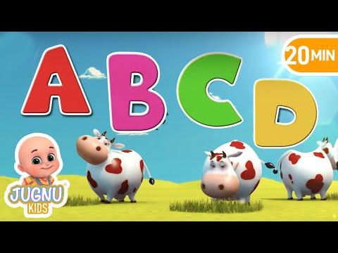 Nursery rhymes for children - ABCD Song & 123 Song | 20 Min Loop - Jugnu Kids
