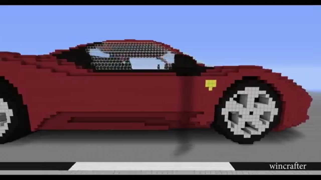 MINECRAFT CAR FERRARI 458   YouTube