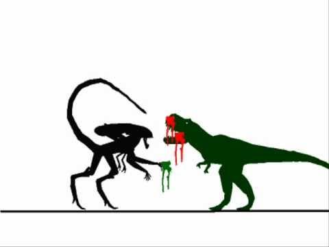Tyrannosaurus vs Xenomorph Queen - YouTube