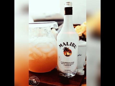 Malibu Rum with Pineapple Juice / Malibu Pineapple Punch!! / cocktail recipe