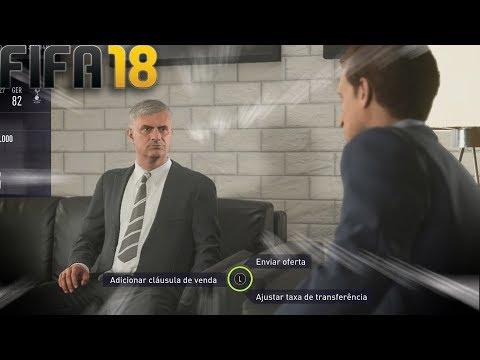 NOVO MODO CARREIRA: MOURINHO QUER LEVAR NOSSO JOGADOR   FIFA 18   TOTTENHAM#1