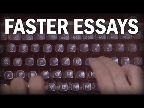 How To Write Essays And Research Papers More Quickly