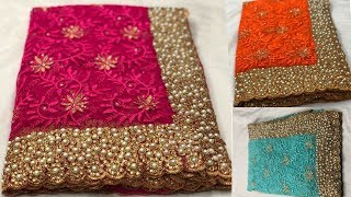 Latest Banglori silk Saree | Handwork Embroidery | With Price | Wedding | Fancy | Collection
