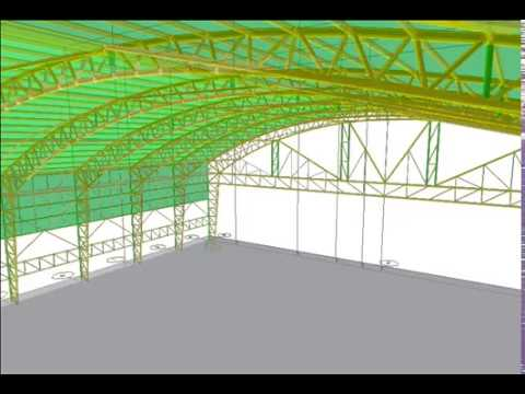 Etabs All Pipes Varying Arch Steel Truss 30 0m Span By Eam 2017