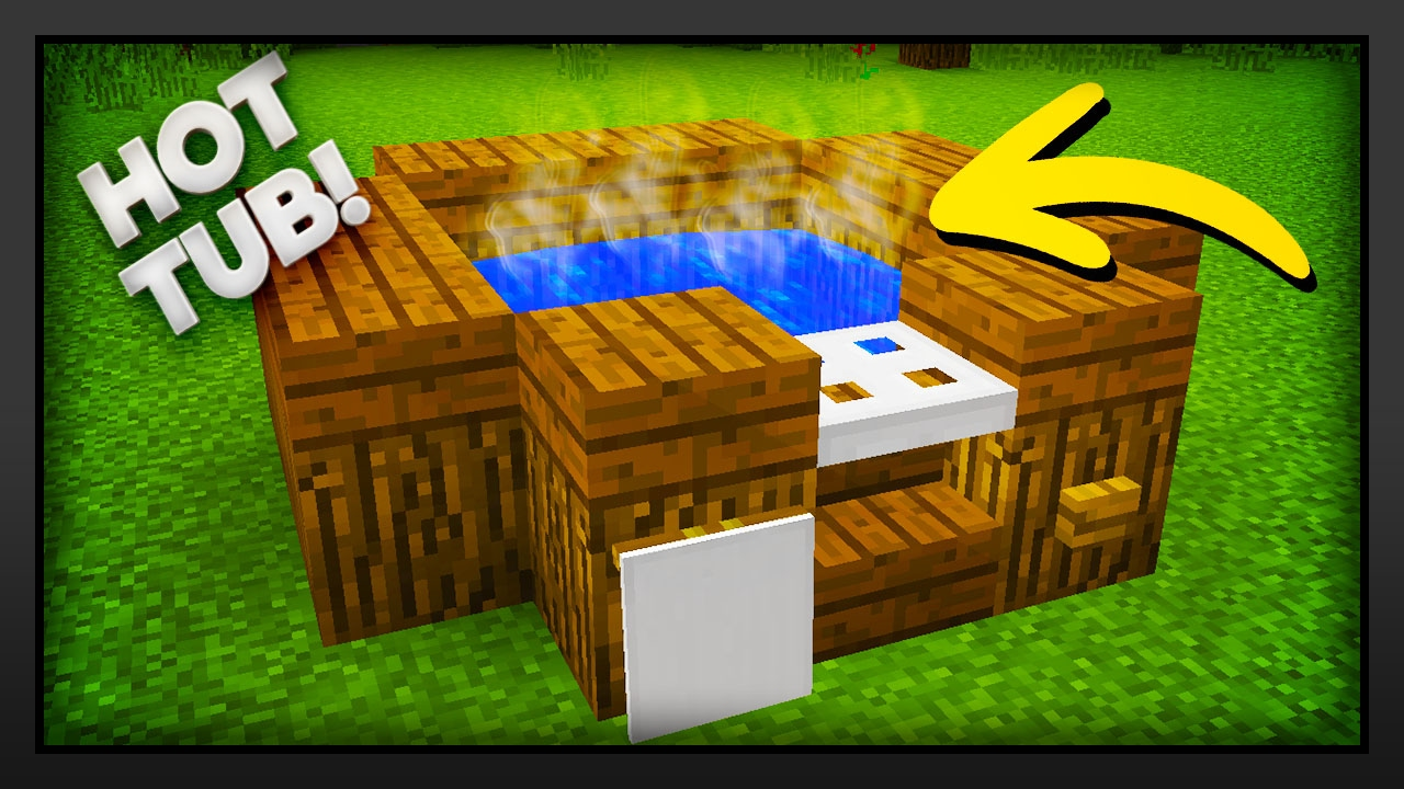 Minecraft - How To Make A Hot Tub - YouTube