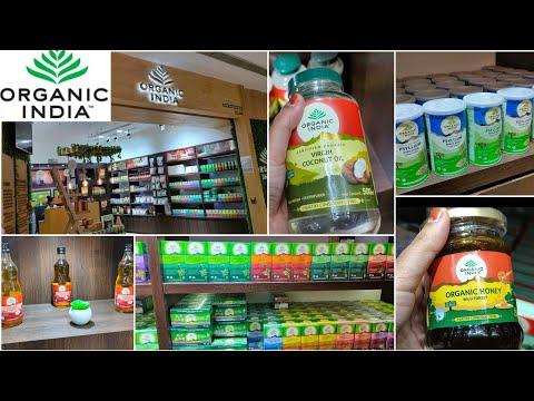Organic India Store Tour   Affordable Rate of Organic Green Tea, Honey, Apple Cider Vinegar, Ghee